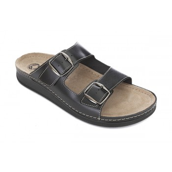 Модель 3401 обувь медицинская типа шлепки черная