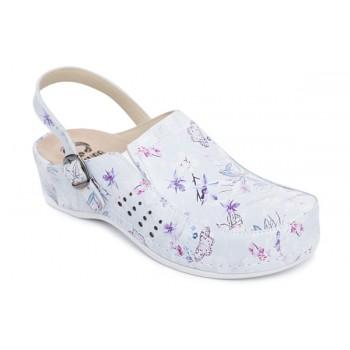 Модель 779 обувь для медицинских работников принт цветы